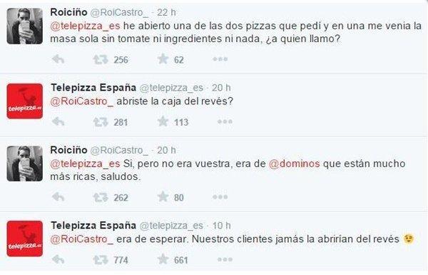 Ejemplo troll graciosillo Telepizza