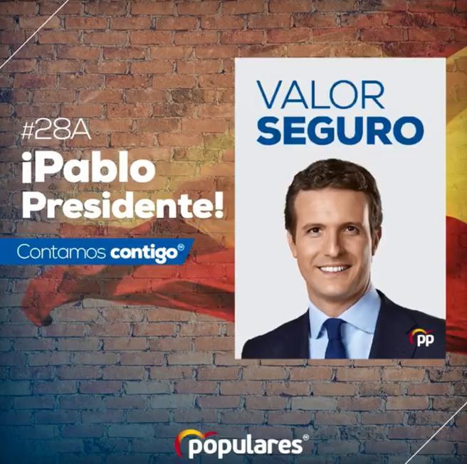 """El storytelling en las elecciones generales: PP: """"Valor seguro"""""""